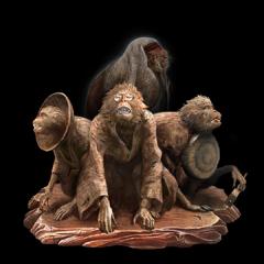 Folding Screen Monkeys