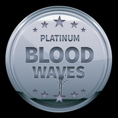 Blood Waves Platinum Trophy in Blood Waves (EU)